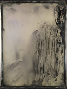 """ Platt D. Babbitt (American, 1822-1879) American Falls from below Prospect Point, Niagara, ca. 1850, whole plate daguerreotype, Gift of Mrs. Alden Scott Boyer, George Eastman House..."