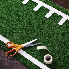 DIY Football Field Table Runner