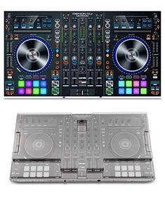 Roland DJ-808 DJ Controller Bundle with Stand and Austin Bazaar Polishing Cloth