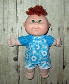Cabbage Patch Newborn Doll Clothes  Flower  and by Dakocreations