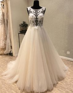 Cheap vestido de noiva longo, Buy Quality china bridal gowns directly from China bridal gown Suppliers: New Elegant Long Wedding Dress 2018 Scoop Backless A-Line Court Train Appliques Tulle China Bridal Gowns Vestido de noiva longo Gold Bridesmaid Dresses, Strapless Prom Dresses, Wedding Dresses 2018, A Line Prom Dresses, Mermaid Prom Dresses, Cheap Prom Dresses, Evening Dresses, Gorgeous Prom Dresses, Fabulous Dresses