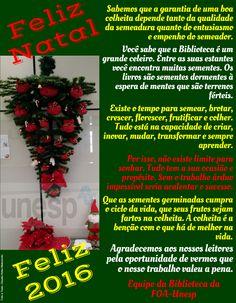 Mensagem de Natal e Ano Novo da Biblioteca da FOA - Unesp - Câmpus de Araçatuba