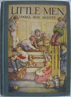 Ilustração para a capa do livro Homenzinhos de Louise May Alcott, feita por Clara Miller Burd (1873 - 1933).
