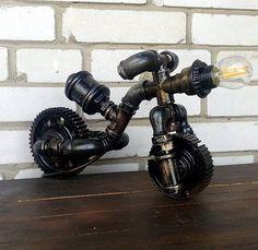 Lámparas de diseño Steampunk Industrial lámparas Vintage