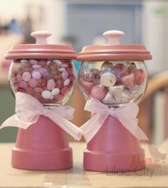 Pinterest Handmade Gifts | Handmade Gumball Machines with candy