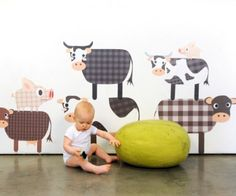 Farm Animal Decals By Pop And Lolli