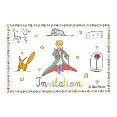 Carte postale Le Petit Prince - Invitation 1