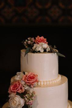 3 Tier Wedding Cake W Flowers