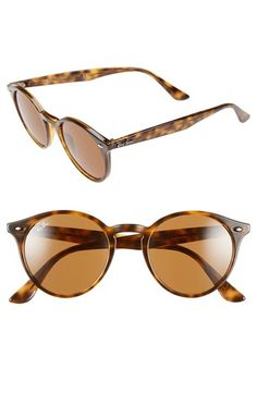 eea91357282ccc Free shipping and returns on Ray-Ban 49mm Round Sunglasses at Nordstrom.com.  A slim, retro-cool frame featuring a smart keyhole bridge sets off rounded  ...