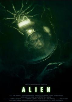 """""""The 1979 Alien is a much more cerebral movie than its sequels, with the characters (and the audience) genuinely engaged in curiosity about this weirdest of lifeforms...Unfortunately, the films it influenced studied its thrills but not its thinking."""" #FilmCritic #RogerEbert on Alien's cinematic impact. 1979 #FilmCritics #Films #Trivia #Cinema #Facts #History Alien Film, Alien Art, Predator Movie, Alien Vs Predator, Love Posters, Beautiful Posters, Horror Movie Posters, Horror Movies, Prometheus Movie"""