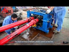 skew rolling machine for rolling 30 mm steel balls - YouTube