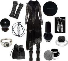 Madame Macabre: Looks Inspiradores Witch Fashion, Dark Fashion, Gothic Fashion, Dark Mori, Cool Outfits, Fashion Outfits, Look Boho, Witch Outfit, Gothic Outfits