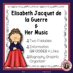 Introduce your young music students to female composer Elisabeth Jacquet de la Guerre and her music. This is an excellent addition to your Listening lessons! This resource contains: - TWO different FOLDABLES in BOTH COLOR AND B/W. - This foldable is a perfect accompaniment to foldable 1, or can be used on its own to respond to Elisabeth Jacquet de la Guerre's music during a listening lesson #mtr #musicteacher #musiced #musiceducation #musicteacherresources