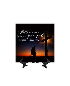 I Still Remember - Inpsirational Quote on Ceramic Tile - 8W x 8H (includes free stand)