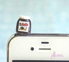 nutella phone plug/ dust cover