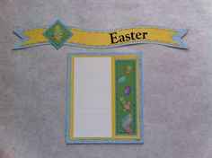 Creative Memories Easter border with journal box