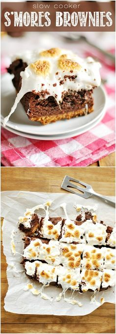 How about some s'mores brownies that are, wait for it....made in the slow cooker!