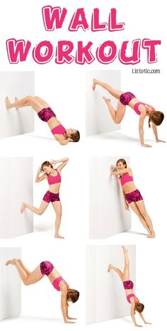 1 Full Body Wall Workout - No gym or equipment required 7 Fun Exercise Ideas You Can Do From Home Fitness Workouts, Fun Workouts, Fitness Tips, Fitness Motivation, Fitness Weightloss, Health Fitness, Workout Ideas, Fun Exercises, Workout Fun