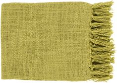 "Surya TID008-5951 59"" X 51"" Indoor Throw Blanket From The Tilda Collection Green Home Decor Throws Throw Blankets"