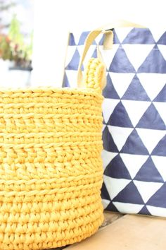 Handmade crochet basket  large di LovePastels su Etsy  www.etsy.com/shop/LovePastels