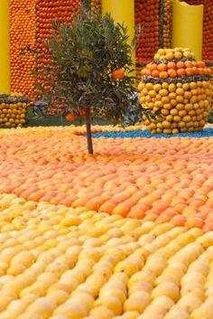 The Lemon Festival in Menton.. France