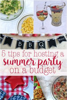 Who doesn't love summer? It's the perfect time for cookouts, parties, and get togethers. Save money on those parties with these 5 tips for hosting a summer party on a budget. Don't break your budget for a party! 5 tips for hosting a summer party on a bu Summer Bbq, Summer Parties, Summer Bucket, Dinner Party Menu, Party Dishes, Summer Recipes, Budgeting, Happy Friday, Cooking