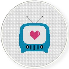 FREE for August 5th 2015 Only - Love On TV Cross Stitch Pattern