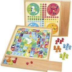 Jeujura Spoločenské hry 2v1 v drevenom boxe Scrabble, Frame, Home Decor, Products, Games, Eco Friendly Toys, Wooden Toys, Picture Frame, A Frame