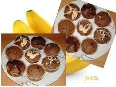 Čokoládové muffiny s banánmi., recepty, Muffiny | Tortyodmamy.sk