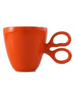 Taza Entrecortada Naranja de Selección tazas en el bazar en Línea - Sacional