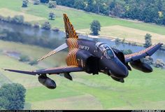 A McDonnell Douglas Phantom II of the German Luftwaffe. A McDonnell Douglas Phantom II of the German Luftwaffe. Drones, Military Jets, Military Aircraft, Air Fighter, Fighter Jets, Photo Avion, F4 Phantom, Aircraft Pictures, Aircraft Images