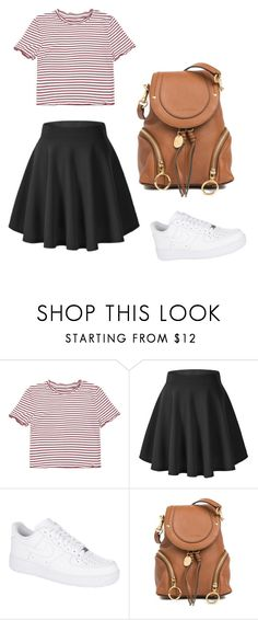 """School outfit"" by indrasavje01 on Polyvore featuring NIKE and See by Chloé"