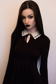 Schoolgirl goth- It's so Wednesday Addams, I love it!!!