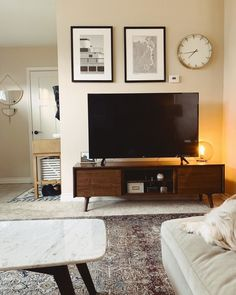 Tv Stand - Unclear About Furniture? Some Tips On Furniture Buying And Care. Living Room Tv, Home And Living, Living Room Furniture, Simple Tv Stand, Walnut Tv Stand, Tv Stand Decor, Ikea Tv Stand, Tv Cabinet Design, Tv Wall Decor