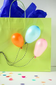 Balloon Gift Bag DIY