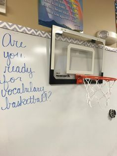 Vocabulary Basketball: Could do this with music terms or notes too!