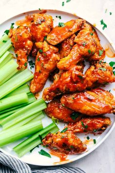Baked Sticky Honey Garlic Buffalo Wings are baked to crispy perfection and topped with the most amazing honey garlic buffalo sauce. These are finger licking good Buffalo Wings, Wing Recipes, New Recipes, Cooking Recipes, Thai Recipes, Amazing Recipes, Dinner Recipes, Tzatziki, Coconut Lime Chicken