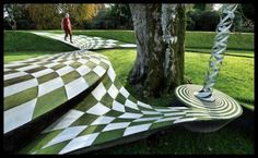 The Garden of Cosmic Speculation in Scotland - Designed by Charles Jenks