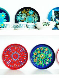 modflowers: vintage tray collection