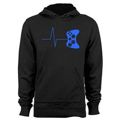 3c4a8b74e Guerrilla Tees Heartbeat of a gamer hoodie funny gaming sweatshirts video  game hoodies graphic hoody