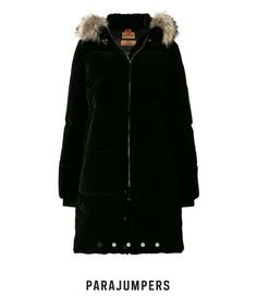 Soft warm fur light green parka from NAFNAF PARIS