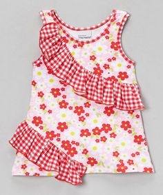 Pink Country Floral Rolling Ruffle Top - Infant, Toddler & Girls #zulily #zulilyfinds