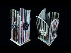 (1) Newspaper Flower Vase | DIY newspaper crafts | Best out of Waste (Unique) - YouTube