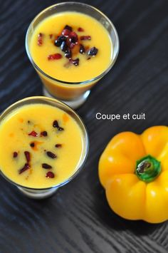 Recette de Gaspacho de poivrons jaunes, Tabasco et chorizo Gaspacho de poivrons jaunes, Tabasco et chorizo Fingers Food, Chorizo Soup, Smoothies, Yellow Foods, Smoked Beef Brisket, Cold Appetizers, Party Finger Foods, Eat Lunch, Love Food