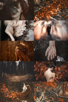 "skcgsra: "" autumn nymph aesthetic """
