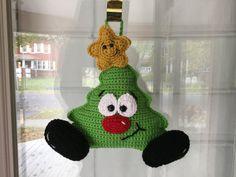 Whimsical Christmas Tree Pillow or Door Hanger Crochet Pattern Whimsical Christmas Trees, Black Christmas Trees, Christmas Tree Themes, Plaid Christmas, Christmas Crafts, Christmas Candle, Crochet Cushions, Crochet Pillow, Dmc Embroidery Floss