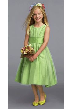 Lime Green Flower Dress Dresses Gown S