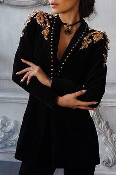 Long Sleeve V-Neck Regular Mid-Length Casual Blazer – Hijab Fashion 2020 Look Fashion, Hijab Fashion, Fashion Outfits, Fashion Boots, Casual Blazer, Blazer Outfits, White Bandage Dress, Mode Abaya, Hijab Stile