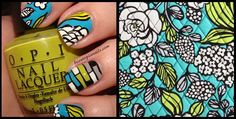 Island Blooms Inspired Manicure