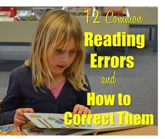 Teach Your Child to Read - A Teachers Idea: 12 Common Reading Errors and How to Overcome Them - Give Your Child a Head Start, and.Pave the Way for a Bright, Successful Future. Reading Response, Reading Intervention, Teaching Reading, Guided Reading, Reading Comprehension, Teaching Ideas, Primary Teaching, Early Reading, Reading Resources